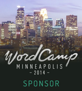 WordCamp Minneapolis 2014 sponsor badge